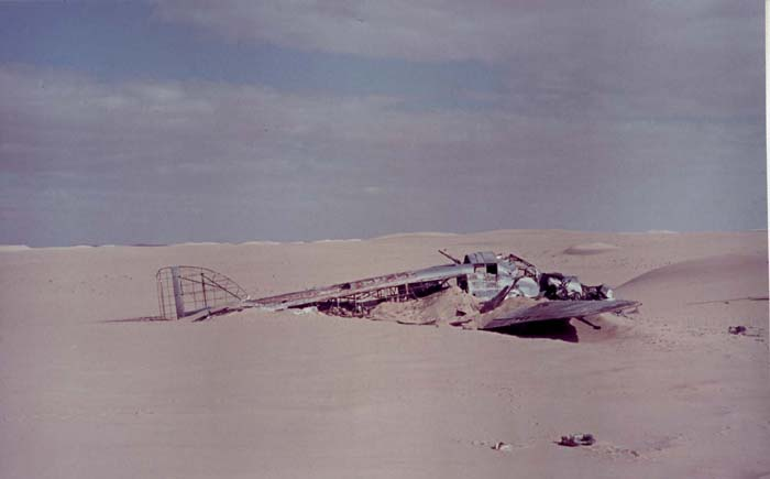 The S.79 when it was discovered in the Libyan desert.