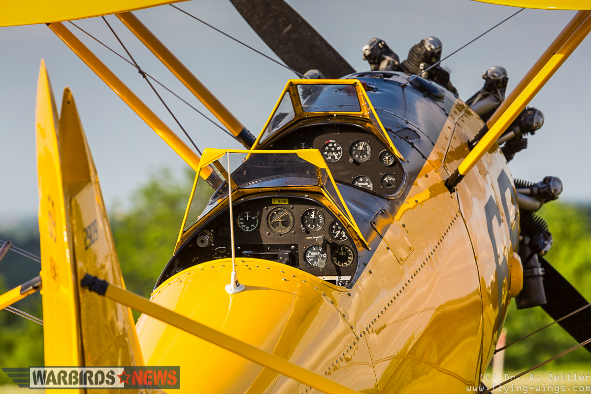 The beautiful N3N's cockpits in the brief sunlight during the show weekend. (photo by Andreas Zeitler)