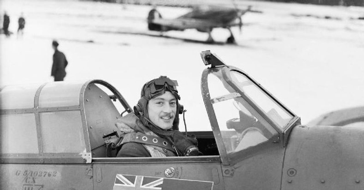 A famous image of Robert Stanford Tuck in his 257 'Burma' Squadron Hawker Hurricane during the Battle of Britain. (photo provided by AVI-8)