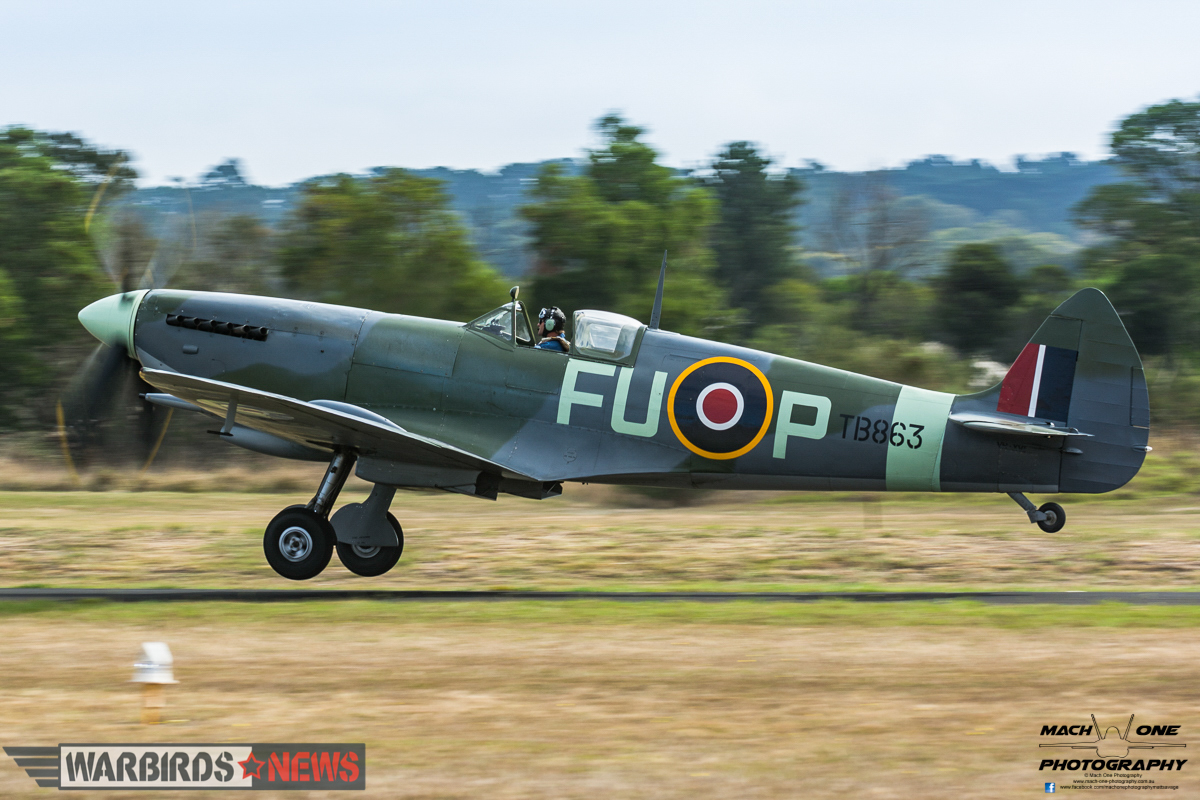 This Spitfire LF.XVIE is a combat-veteran that served with 453 Squadron RAAF and flew over Normandy on D-Day. Post-war, it was a movie star in the film 'Reach For The Sky'. (photo by Matt Savage)