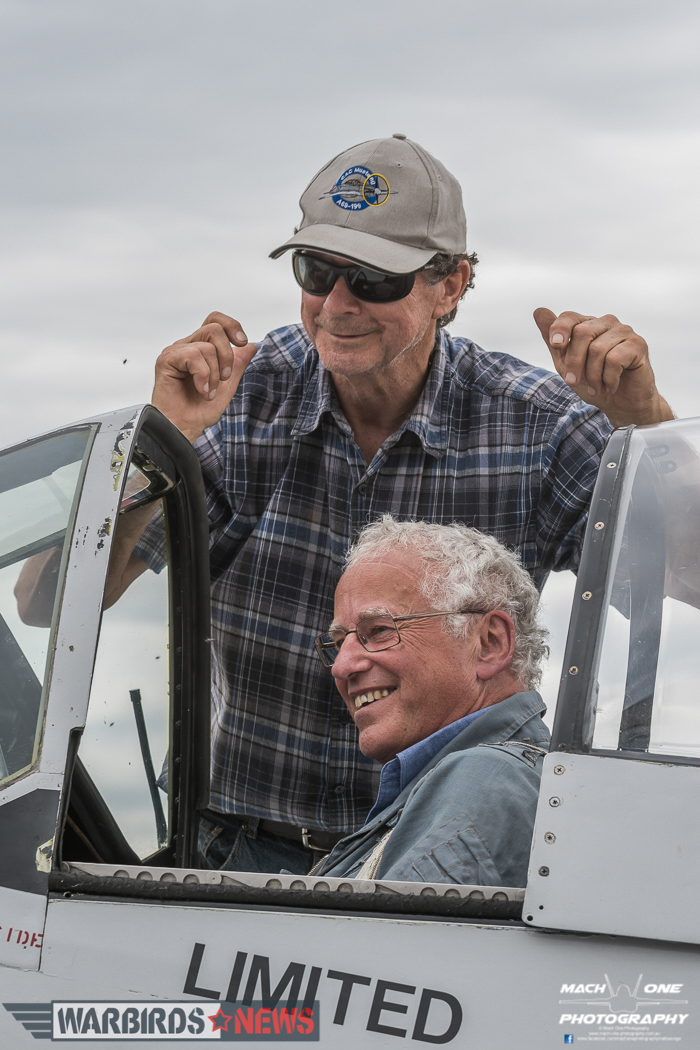 Happy pilot and happy owner after the first flight. (photo by Matt Savage/Mach One Photography)